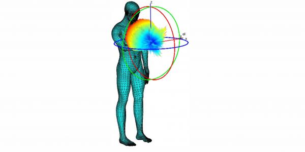 Human body integrated phone antenna